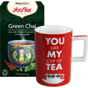Cadou Ceai verde ecologic Yogi Tea si Cana You are My Cup of Tea