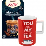 Set cadou Ceai negru ecologic Yogi Tea si Cana You Are My Cup of Tea